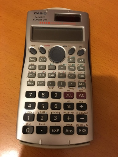 Casio fx3650p calculator  image